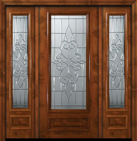 WDMA 64x80 Door (5ft4in by 6ft8in) Exterior Knotty Alder 36in x 80in 3/4 Lite Courtlandt Alder Door /2side 1