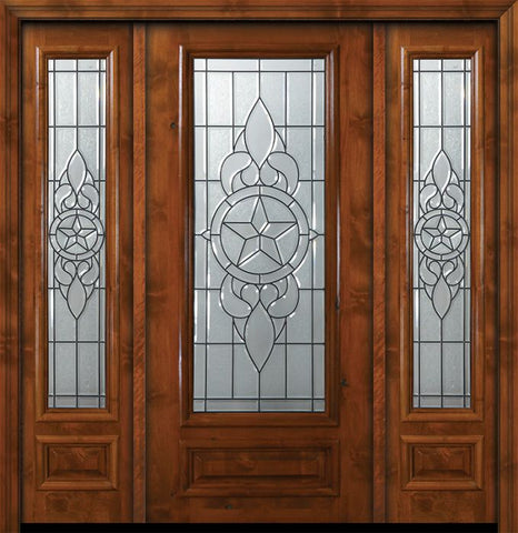 WDMA 64x80 Door (5ft4in by 6ft8in) Exterior Knotty Alder 36in x 80in 3/4 Lite Brazos Alder Door /2side 1