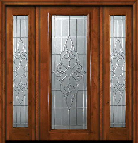 WDMA 64x80 Door (5ft4in by 6ft8in) Exterior Knotty Alder 36in x 80in Full Lite Courtlandt Alder Door /2side 1