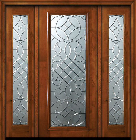 WDMA 64x80 Door (5ft4in by 6ft8in) Exterior Knotty Alder 36in x 80in Full Lite Savoy Alder Door /2side 1