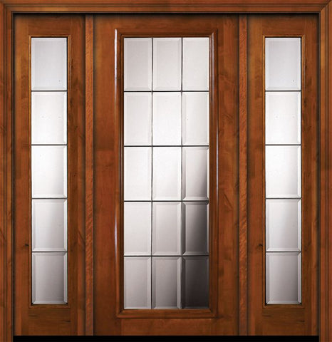 WDMA 64x80 Door (5ft4in by 6ft8in) Exterior Knotty Alder 36in x 80in Full Lite French Alder Door /2side 1