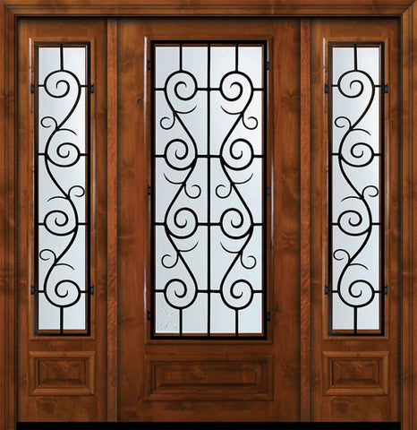 WDMA 64x80 Door (5ft4in by 6ft8in) Exterior Knotty Alder 36in x 80in 3/4 Lite St. Charles Alder Door /2side 1