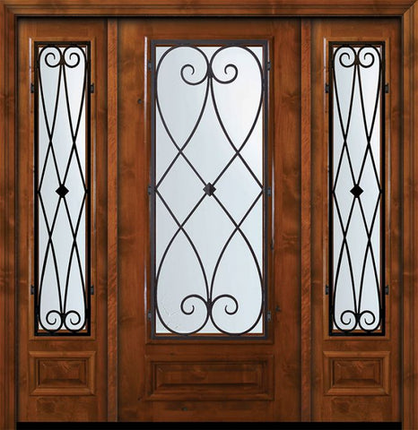 WDMA 64x80 Door (5ft4in by 6ft8in) Exterior Knotty Alder 36in x 80in 3/4 Lite Charleston Alder Door /2side 1