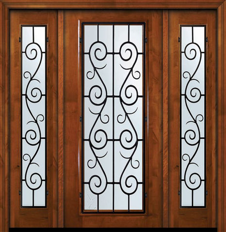 WDMA 64x80 Door (5ft4in by 6ft8in) Exterior Knotty Alder 36in x 80in Full Lite St. Charles Alder Door /2side 1