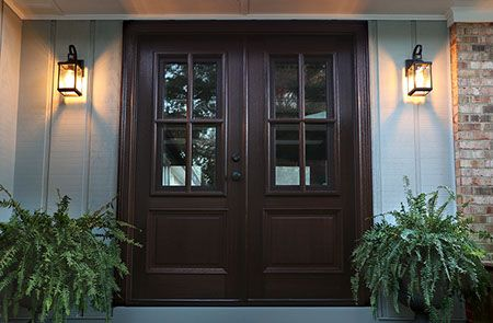 WDMA 64x80 Door (5ft4in by 6ft8in) Exterior Swing Mahogany Breezeport TDL 4LT Double Door 2-1/4 Thick 3