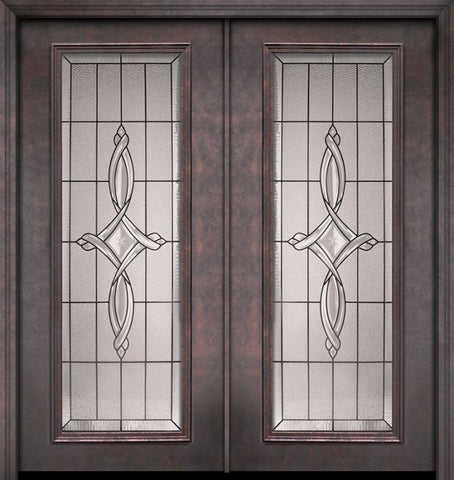 WDMA 64x80 Door (5ft4in by 6ft8in) Exterior 80in ThermaPlus Steel Marsais Full Lite Double Door 1