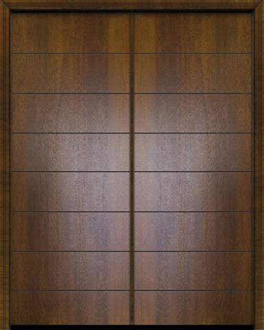 WDMA 64x96 Door (5ft4in by 8ft) Exterior Mahogany 96in Double Westwood Contemporary Door 1