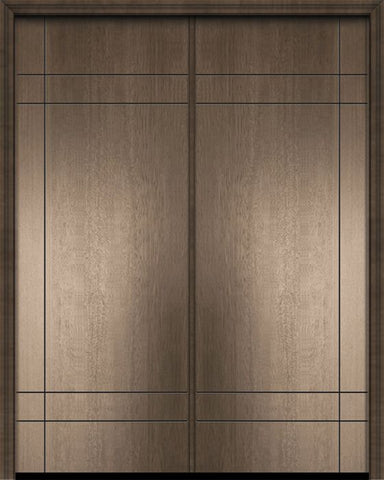 WDMA 64x96 Door (5ft4in by 8ft) Exterior Mahogany 96in Double Inglewood Contemporary Door 1