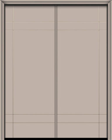 WDMA 64x96 Door (5ft4in by 8ft) Exterior Smooth 96in Double Inglewood Solid Contemporary Door 1