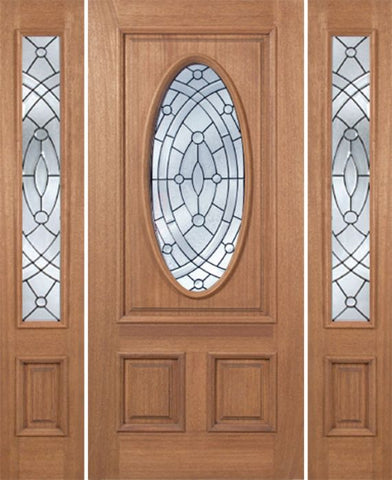 WDMA 66x80 Door (5ft6in by 6ft8in) Exterior Mahogany Maryvale Single Door/2side w/ EE Glass 1