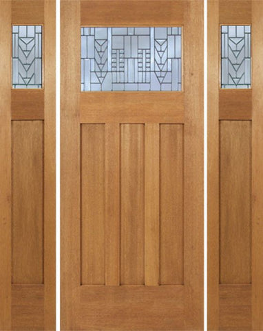 WDMA 66x80 Door (5ft6in by 6ft8in) Exterior Mahogany Biltmore Single Door/2side w/ A Glass 1