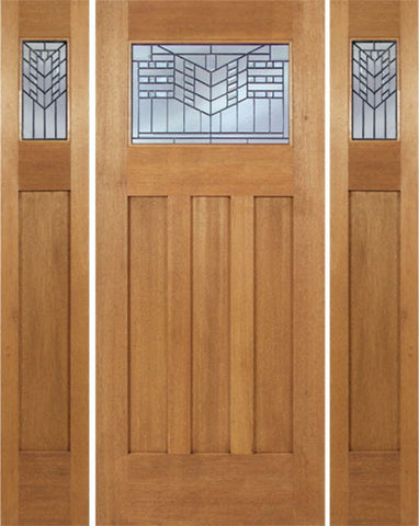 WDMA 66x80 Door (5ft6in by 6ft8in) Exterior Mahogany Biltmore Single Door/2side w/ E Glass 1