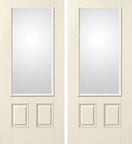 WDMA 68x80 Door (5ft8in by 6ft8in) French Smooth Satin Etch 3/4 Lite 2 Panel Star Double Door  1