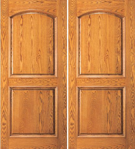 WDMA 72x84 Door (6ft by 7ft) Exterior Mahogany Home Arch 2 Panel Traditional Colonial Double Door 1