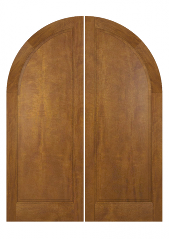 WDMA 72x96 Door (6ft by 8ft) Exterior Swing Mahogany Round Top Full Flat 1 Panel Transitional Home Style or Interior Double Door 1