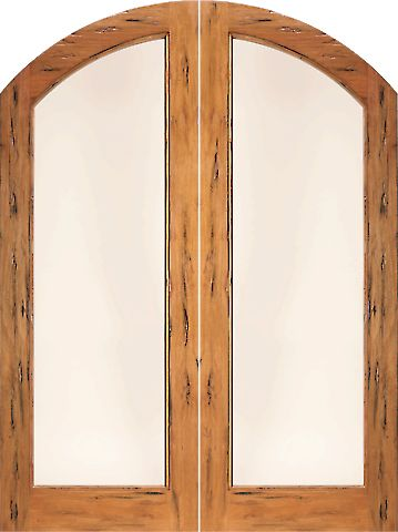 WDMA 72x96 Door (6ft by 8ft) Exterior Tropical Hardwood RS-1140 Arch Top 1 Lite Dual insulated Glass Rustic Solid Entry Double Door 1