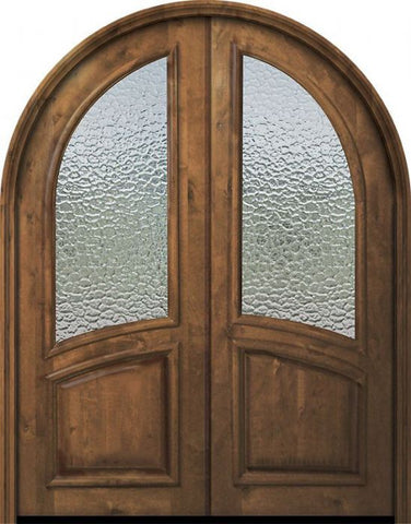 WDMA 72x96 Door (6ft by 8ft) Exterior Knotty Alder 36in x 96in Double Round Top Smooth Panel Estancia Alder Door 1