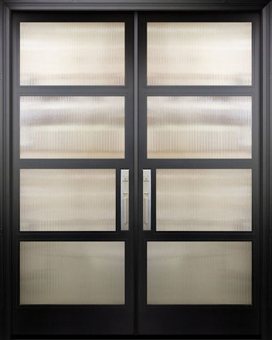 WDMA 72x96 Door (6ft by 8ft) Exterior Swing Smooth 36in x 96in Double 1 Block NP-Series Narrow Profile Door 1