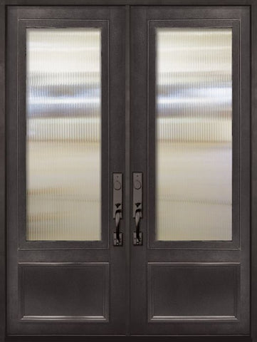 WDMA 72x96 Door (6ft by 8ft) Patio 96in 3/4 Lite Double Privacy Glass Entry Door 1