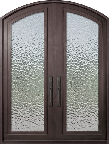 WDMA 72x96 Door (6ft by 8ft) French 96in Full Lite Arch Top Double Privacy Glass Entry Door 1