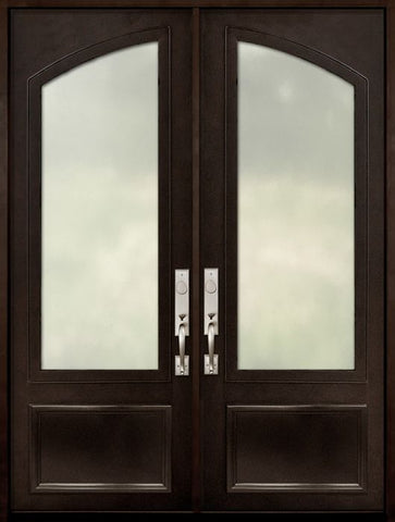 WDMA 72x96 Door (6ft by 8ft) Patio 96in 3/4 Arch Lite Double Privacy Glass Entry Door 1