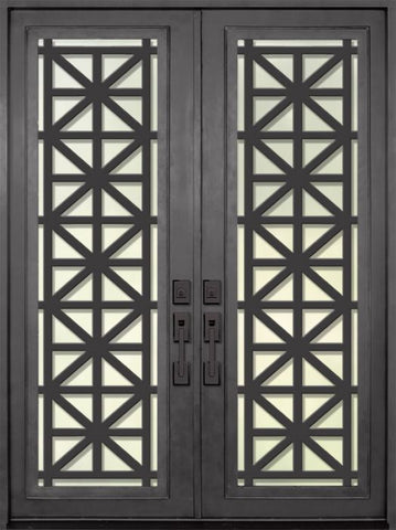 WDMA 72x96 Door (6ft by 8ft) Exterior 96in Contempo Full Lite Double Contemporary Entry Door 1