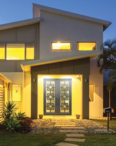 WDMA 72x96 Door (6ft by 8ft) Exterior 96in Moderne Full Lite Double Contemporary Entry Door 2