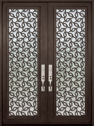 WDMA 72x96 Door (6ft by 8ft) Exterior 96in Arte Full Lite Double Contemporary Entry Door 1