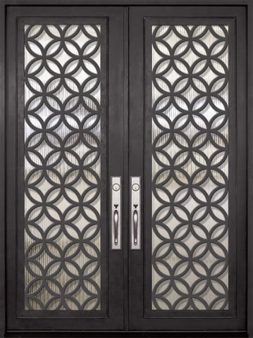 WDMA 72x96 Door (6ft by 8ft) Exterior 96in Eclectic Full Lite Double Contemporary Entry Door 1