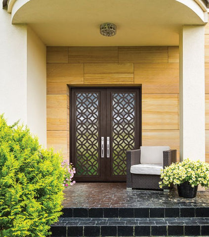 WDMA 72x96 Door (6ft by 8ft) Exterior 96in Eclectic Full Lite Double Contemporary Entry Door 2