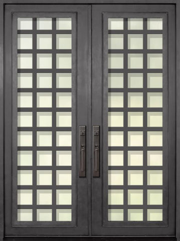 WDMA 72x96 Door (6ft by 8ft) Exterior 96in Cube Full Lite Double Contemporary Entry Door 1