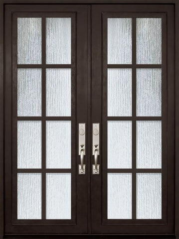 WDMA 72x96 Door (6ft by 8ft) Exterior 96in Minimal Full Lite Double Contemporary Entry Door 1