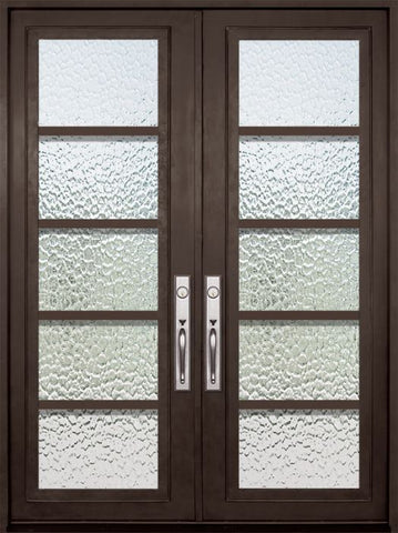 WDMA 72x96 Door (6ft by 8ft) Exterior 96in Urban-5 Full Lite Double Contemporary Entry Door 1