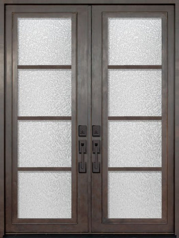WDMA 72x96 Door (6ft by 8ft) Exterior 96in Urban-4 Full Lite Double Contemporary Entry Door 1
