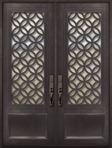 WDMA 72x96 Door (6ft by 8ft) Exterior 96in Eclectic 3/4 Lite Double Contemporary Entry Door 1