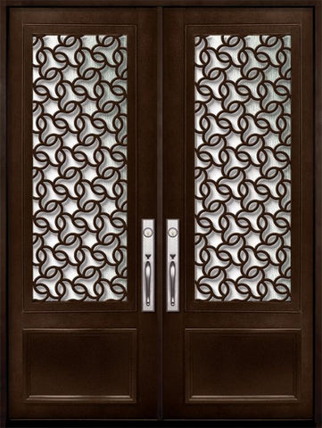 WDMA 72x96 Door (6ft by 8ft) Exterior 96in Arte 3/4 Lite Double Contemporary Entry Door 1