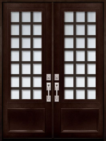 WDMA 72x96 Door (6ft by 8ft) Exterior 96in Cube 3/4 Lite Double Contemporary Entry Door 1
