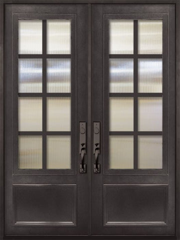 WDMA 72x96 Door (6ft by 8ft) Exterior 96in Minimal 3/4 Lite Double Contemporary Entry Door 1