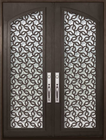 WDMA 72x96 Door (6ft by 8ft) Exterior 96in Arte Full Arch Lite Double Contemporary Entry Door 1