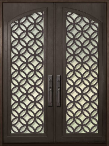 WDMA 72x96 Door (6ft by 8ft) Exterior 96in Eclectic Full Arch Lite Double Contemporary Entry Door 1