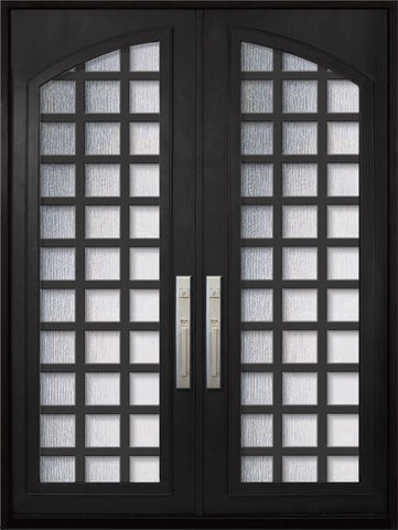 WDMA 72x96 Door (6ft by 8ft) Exterior 96in Cube Full Arch Lite Double Contemporary Entry Door 1