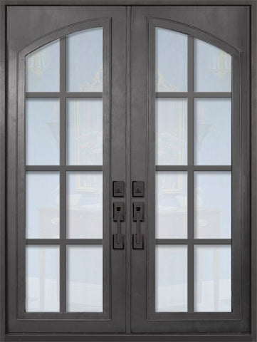 WDMA 72x96 Door (6ft by 8ft) Exterior 96in Minimal Full Arch Lite Double Contemporary Entry Door 1