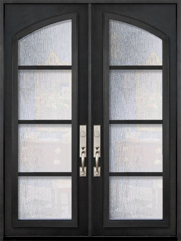WDMA 72x96 Door (6ft by 8ft) Exterior 96in Urban-4 Full Arch Lite Double Contemporary Entry Door 1