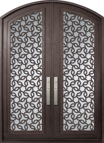 WDMA 72x96 Door (6ft by 8ft) Exterior 96in Arte Full Lite Arch Top Double Contemporary Entry Door 1