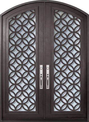 WDMA 72x96 Door (6ft by 8ft) Exterior 96in Eclectic Full Lite Arch Top Double Contemporary Entry Door 1