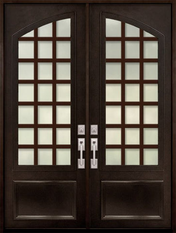 WDMA 72x96 Door (6ft by 8ft) Exterior 96in Cube 3/4 Arch Lite Double Contemporary Entry Door 1