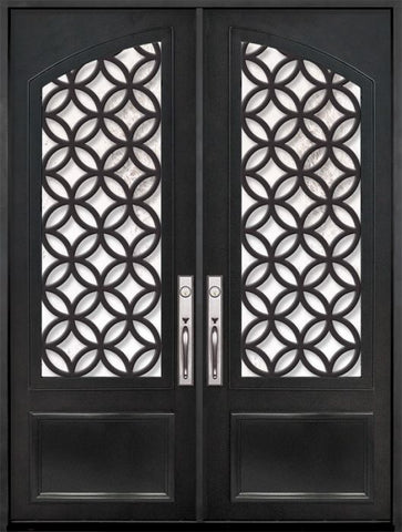 WDMA 72x96 Door (6ft by 8ft) Exterior 96in Eclectic 3/4 Arch Lite Double Contemporary Entry Door 1