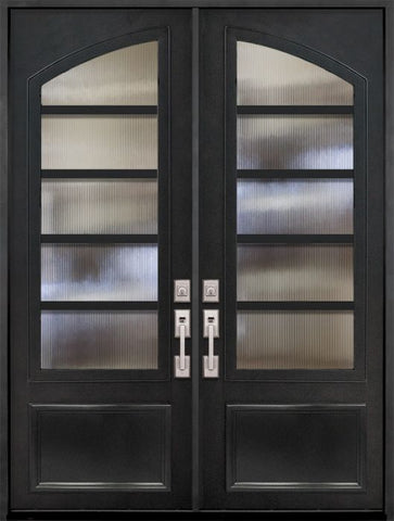 WDMA 72x96 Door (6ft by 8ft) Exterior 96in Urban-5 3/4 Arch Lite Double Contemporary Entry Door 1