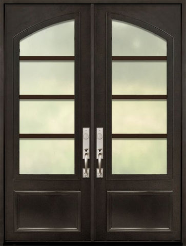 WDMA 72x96 Door (6ft by 8ft) Exterior 96in Urban-4 3/4 Arch Lite Double Contemporary Entry Door 1