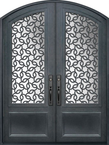WDMA 72x96 Door (6ft by 8ft) Exterior 96in Arte 3/4 Lite Arch Top Double Contemporary Entry Door 1